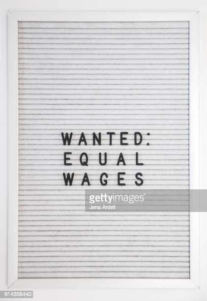 Equal Pay Equal Wages Equality Letterboard