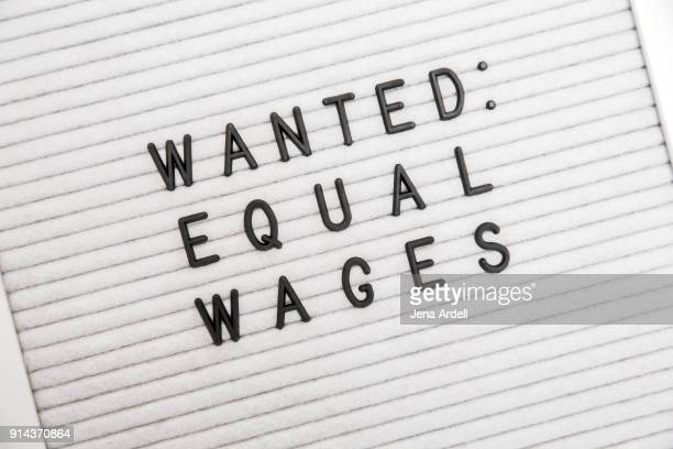 Equal Wage Equal Pay Equality Letterboard