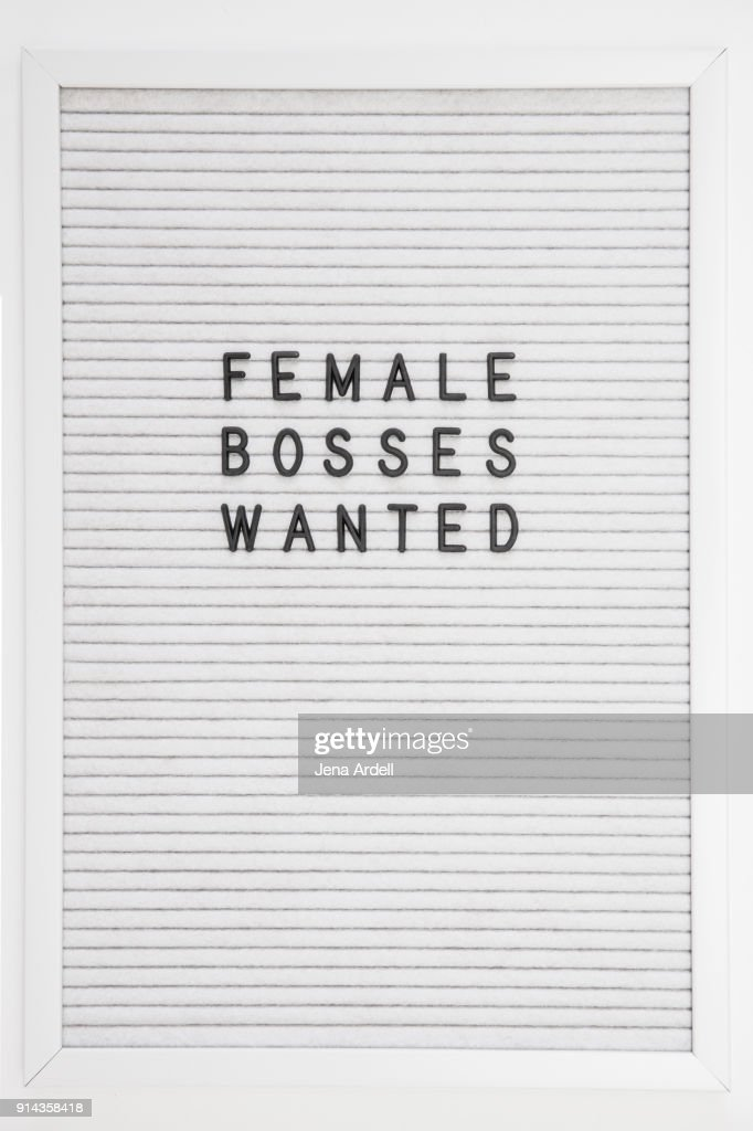 Equality In Workplace Females Bosses Wanted Letterboard : Foto de stock