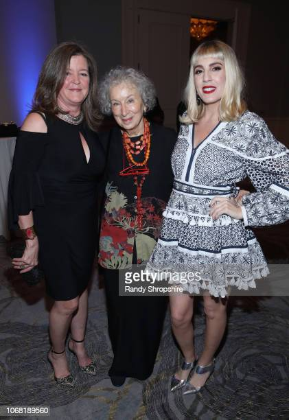 Equality Now Director of Americas Office Shelby Quast Margaret Atwood and JC Coccoli attend Equality Now's Make Equality Reality Gala 2018 at The...