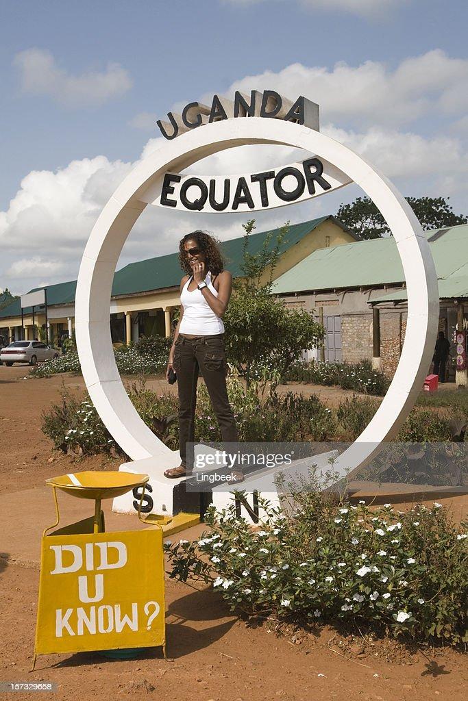 Equator in Uganda : Stock Photo