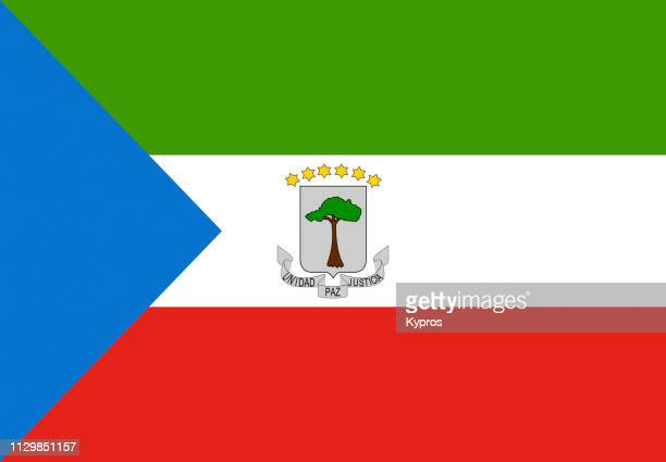 equatorial guinea flag - equatorial guinea stock pictures, royalty-free photos & images