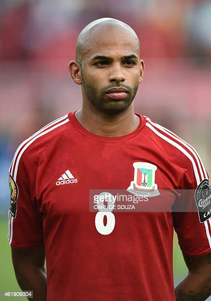 Equatorial Guinea's midfielder Randy poses ahead of the 2015 African Cup of Nations group A football match between Equatorial Guinea and Burkina Faso...