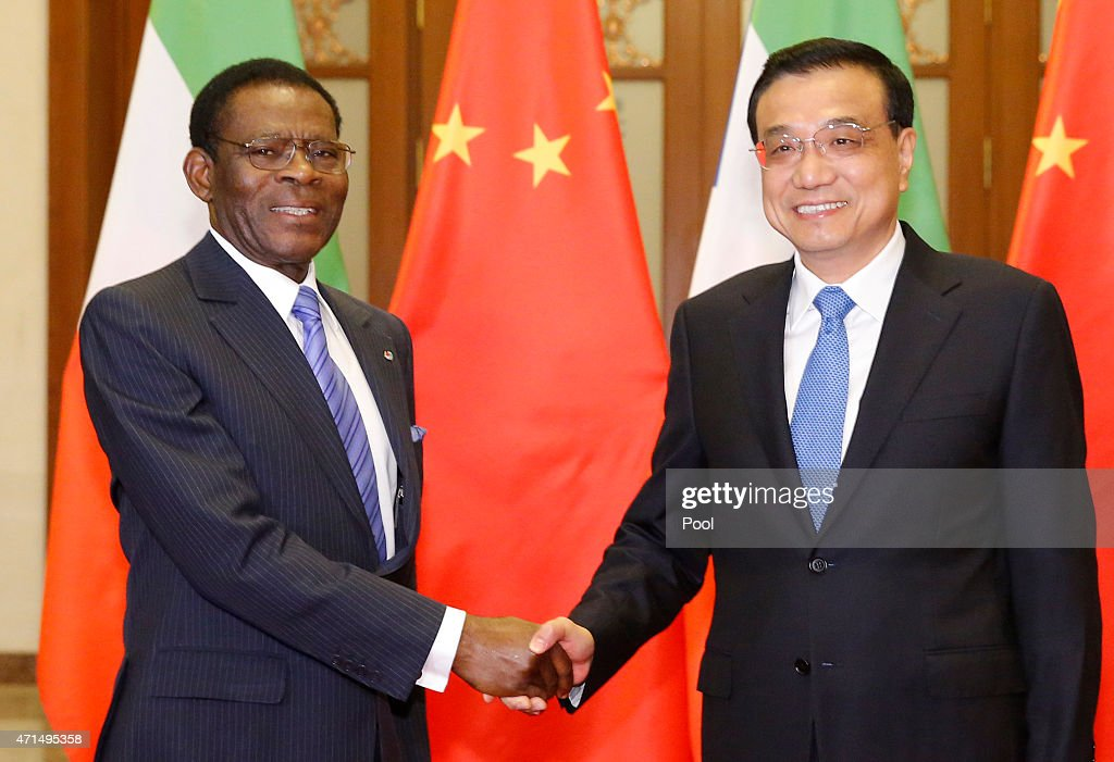 President Of Equatorial Guinea Visits China : News Photo