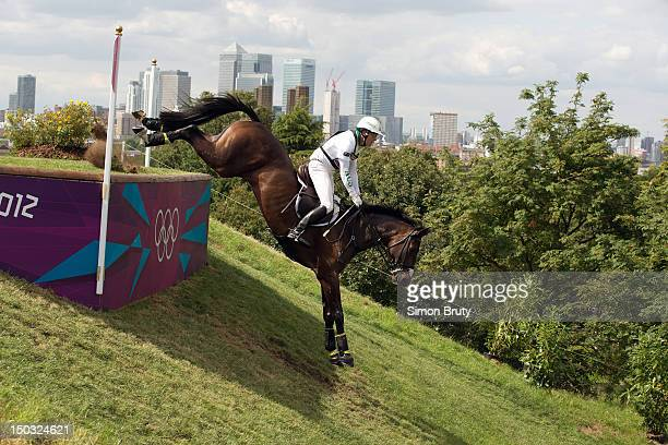 2012 Summer Olympics Australia Andrew Hoy in action aboard Rutherglen in action during Men's Eventing Individual Cross Country at Greenwich Park...