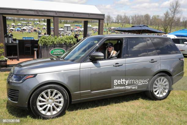 Equestrian and actor Kaley Cuoco at the seventh annual Land Rover tailgate experience during the Land Rover Kentucky Three Day Event at the Kentucky...