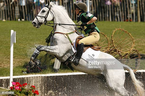 Equestrian Badminton Horse Trials New Zealand Caroline Powell in action aboard Lenamore during Cross Country Section at Badminton House...