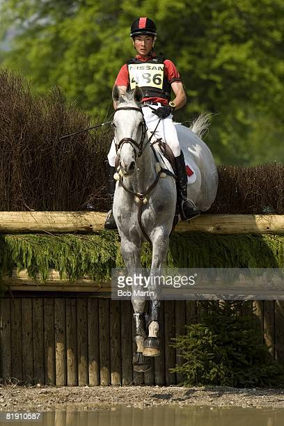 Chatsworth International Horse Trials: China Alex Hua Tian in action aboard ESB Irish Fiddle during Cross Country event of Three Day Event...