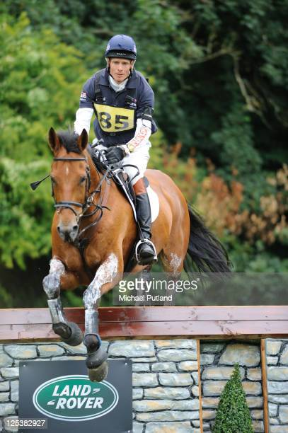 Equestrian eventer William Fox-Pitt rides the horse Neuf Des Coeurs at Gatcombe Park, Gloucestershire, UK, 6th August 2011.