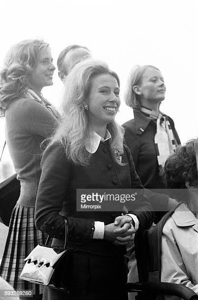 Equestrian Eventing at the Munch Olympic Games Friday 1st September 1972 Princess Anne watches the Three Day Event