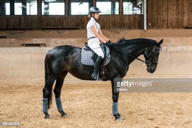 Equestrian Hall Teenage Girl Dressage Riding