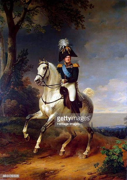 'Equestrian Portrait of Emperor Alexander I' 1837 Krüger Franz Found in the collection of the State Hermitage St Petersburg