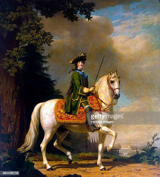 Equestrian Portrait of Empress Catherine II' after 1762 Erichsen Vigilius Found in the collection of the State Hermitage St Petersburg