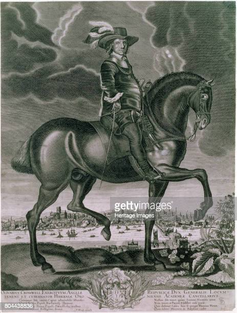Equestrian portrait of Oliver Cromwell c1655 Cromwell commanded the forces of Parliament during the English Civil War After the war England Scotland...