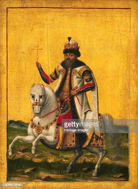 Equestrian portrait of the Tsar Michail I Fyodorovich of Russia , circa 1650-1660. Found in the collection of Statens Museum for Kunst, Copenhagen....