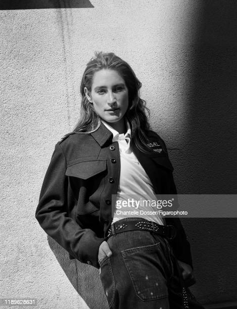 Equestrian rider and daughter of Bruce Springsteen, Jessica Springsteen is photographed for Madame Figaro on July 3, 2018 in Paris, France. Jacket...