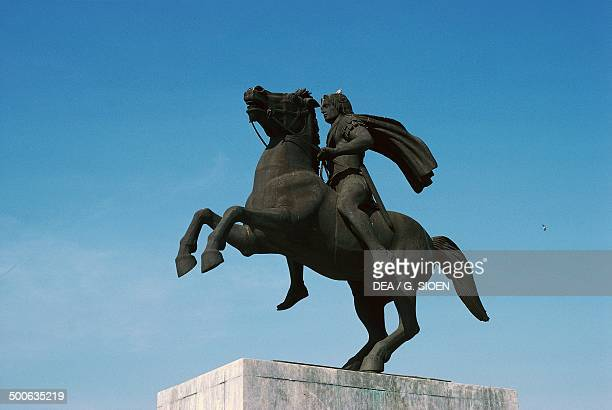 Equestrian statue of Alexander the Great Thessaloniki Greece