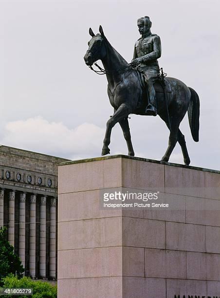 Equestrian statue of General Carl Gustaf Emil Mannerheim in Helsinki Finland