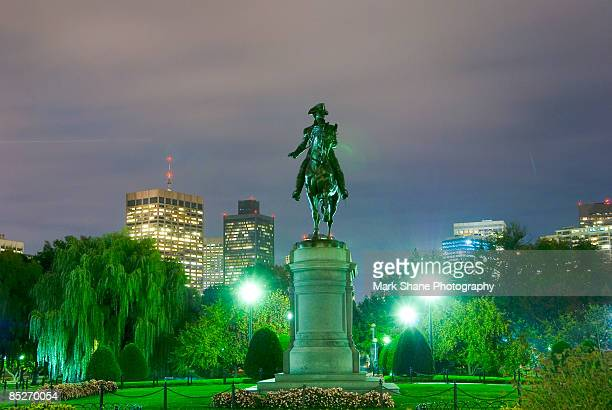 equestrian statue of george washington - boston common stock pictures, royalty-free photos & images
