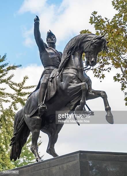 Equestrian Statue of José de San Martín in Central Park