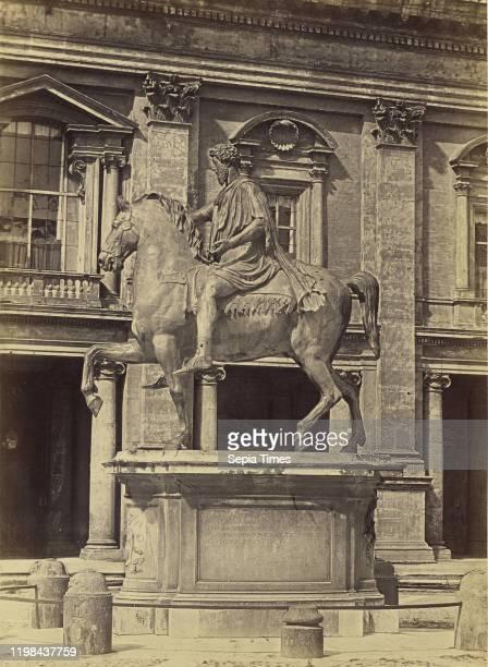 Equestrian statue of Marcus Aurelius Rome Tommaso Cuccioni 1850 1859 Albumen silver print