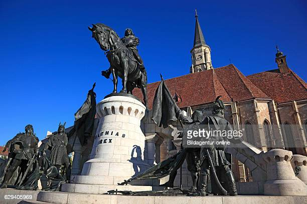 Equestrian statue of Matthias Corvinus Matthias Rex and The Cluj Michael Church in ClujNapoca Cluj is the most important example of a gothic church...