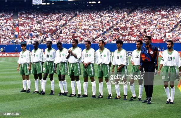 Equipe Arabie Saoudite Arabie Saoudite / Maroc Coupe du Monde 1994 Photo Alain Gadoffre / Icon Sport Mohamed Al Deayea / Mohammed Al Khilaiwi / Ahmad...