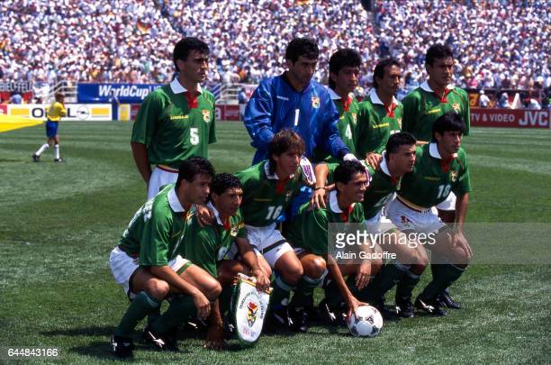 Equipe Bolivie Allemagne / Bolivie Coupe du Monde 1994 Chicago Photo Alain Gadoffre / Icon Sport Carlos Trucco / Marco Sandy / Miguel Rimba / Gustavo...