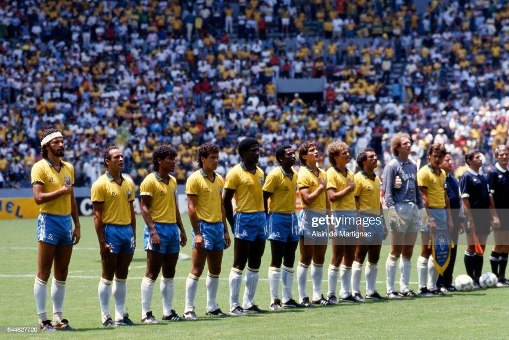 Equipe bresil bresil france 1 4finale coupe du - Finale coupe du monde 1986 ...