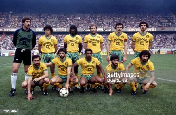 Equipe de Nantes Psg / Nantes Finale de la coupe de France 1983 Parc des Princes