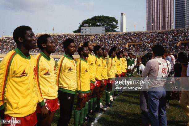Equipe du Cameroun Cameroun / Nigeria Finale Coupe d'Afrique des Nations 1984 Photo Alain de Martignac / Icon Sport