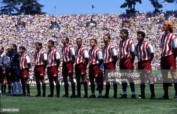 Equipe Etats Unis Bresil / Etats Unis 1/8Finale Coupe du Monde 1994 Photo Alain Gadoffre / Icon Sport Tony Meola / Thomas Dooley / Marcelo Balboa /...