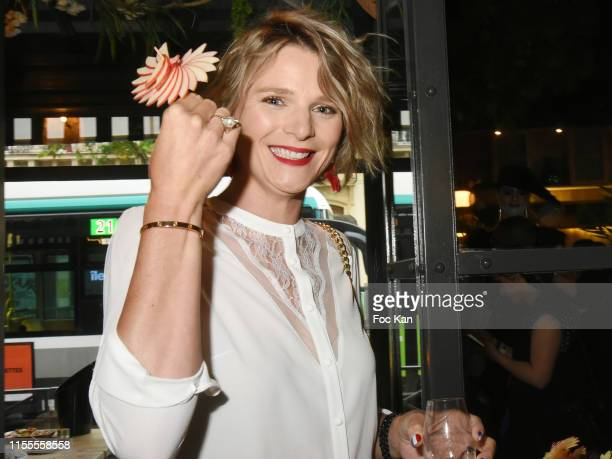 Equipe TV prsenter France Pierron attends the Agence Anonyme Paris 10th Anniversary Party At Le Choupinet on June 12 2019 in Paris France