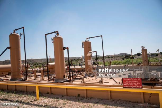Equipment at a fracking well is pictured at Capitan Energy on May 7, 2020 in Culberson County, Texas. - For oil and gas producers in the world's...