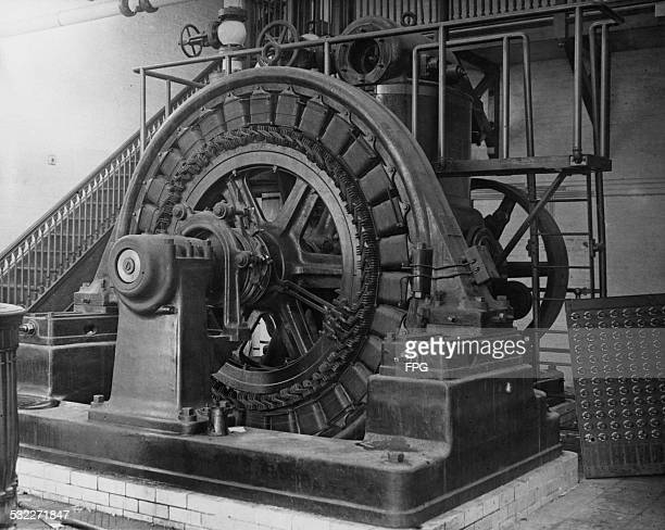 Equipment at the Wardenclyffe Tower facility an early wireless transmission station in Shoreham Long Island New York State 1916 The tower was...