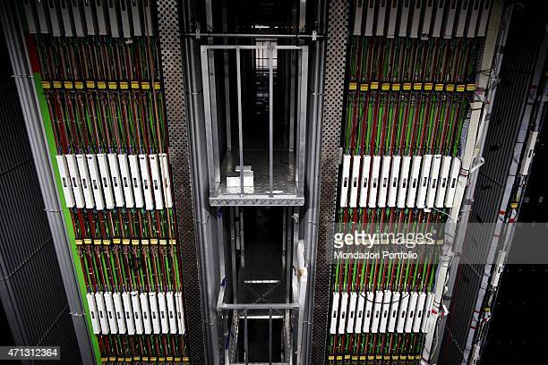 Equipment for the reception of neutrinos in one of the laboratories of the National Institute for Nuclear Physics under Gran Sasso. Assergi , Italy,...