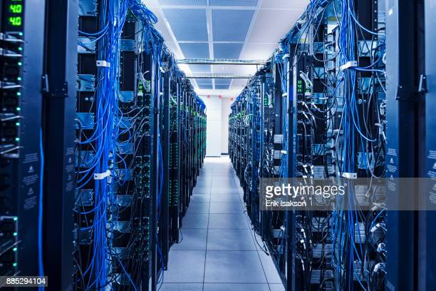 equipment in server room - telecommunications equipment stock pictures, royalty-free photos & images