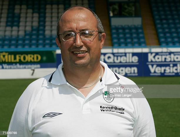 Equipment manager Joseph Gran poses during the Bundesliga 2nd Team Presentation of SpVgg Greuther Fuerth at the Playmobil Stadium on July 13 2006 in...