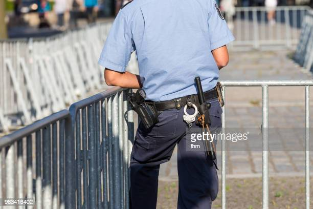 equipment-belt of a german police officer - truncheon stock pictures, royalty-free photos & images