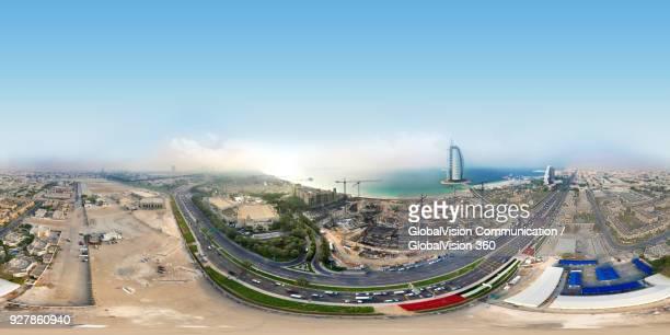 360° Equirectangular Panorama of Burj Al Arab Hotel in Dubai, UAE
