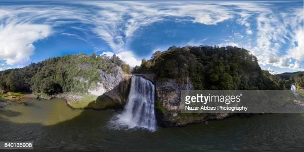 Equirectangular Panorama of Hunua Falls, Auckland, New Zealand.