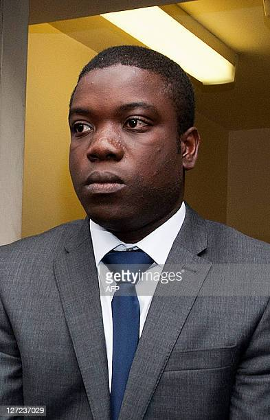 UBS equities trader Kweku Adoboli leaves City of London Magistrates court in central London on September 22 2011 Kweku Adoboli the equities trader...