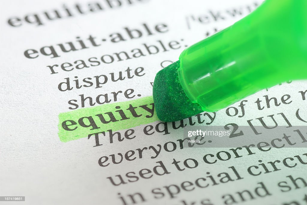 Equity Definition Highligted In Dictionary : Stock Photo