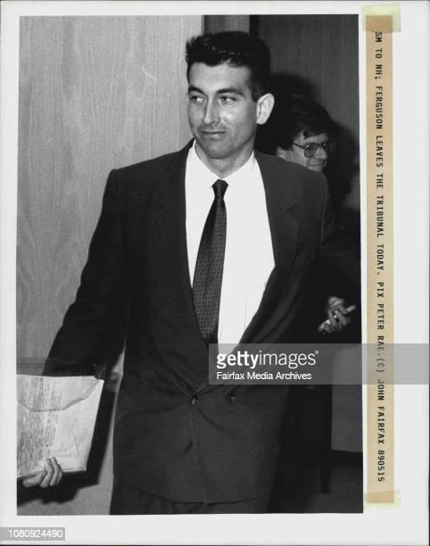 Equla Opportunity Tribunal Dr West v FergusonFerguson leaves the tribunal May 15 1989