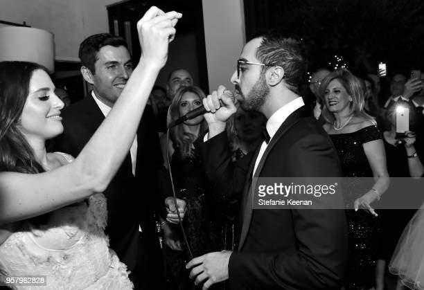 Era performs for Alexa Dell and Harrison Refoua at Alexa Dell and Harrison Refoua's engagement celebration at Ysabel on May 12 2018 in West Hollywood...