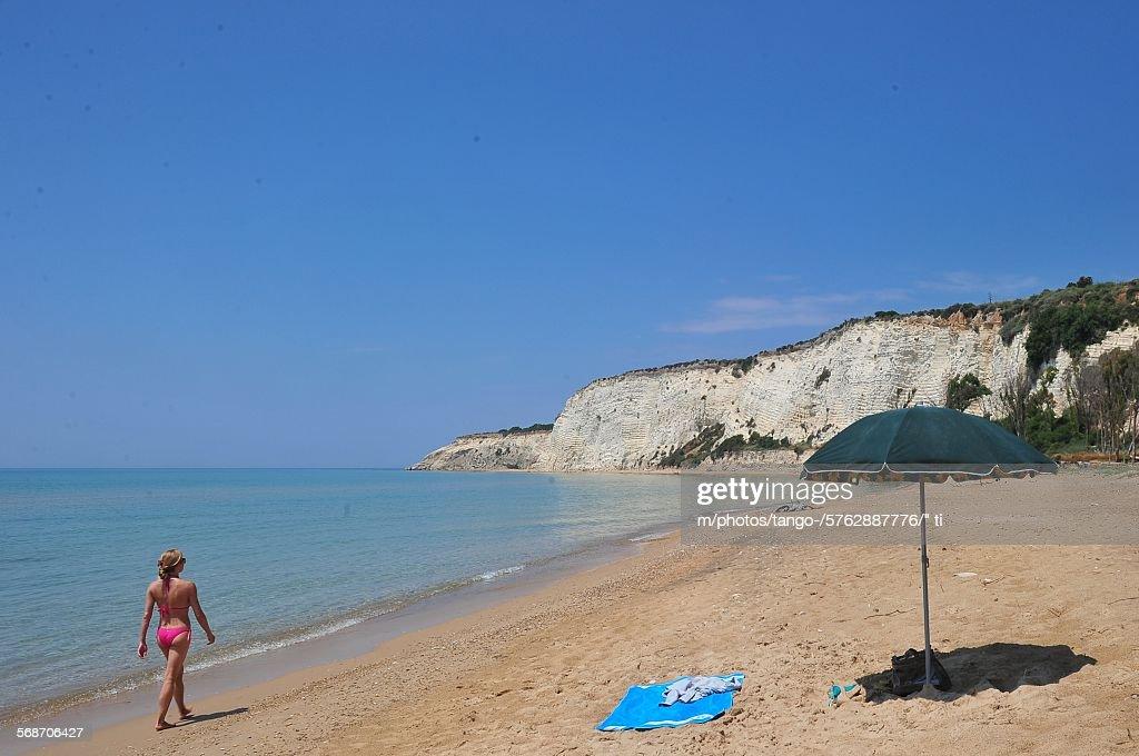 Eraclea Minoa beach, Sicily : Stock Photo