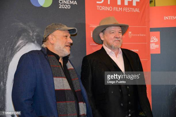 Eran Riklis and Bruce Cameron McDonald attend the Opening Ceremony for the 37th Torino Film Festival on November 22, 2019 in Turin, Italy.
