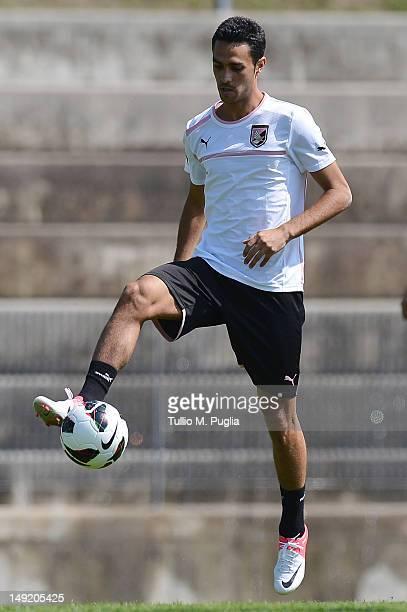 Eran Zahavi in action during a US Citta di Palermo preseason training session at Sport Well Center on July 24 2012 in Malles Venosta near Bolzano...
