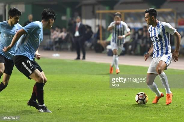 Eran Zahavi of Guangzhou RF controls the ball during the 2018 Chinese Football Association Super League second round match between Guangzhou RF and...