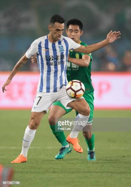 Eran Zahavi of Guangzhou RF in action during 2018 China Super League match between Beijing Guoan and Guangzhou RF at Beijing Workers Stadium on May...
